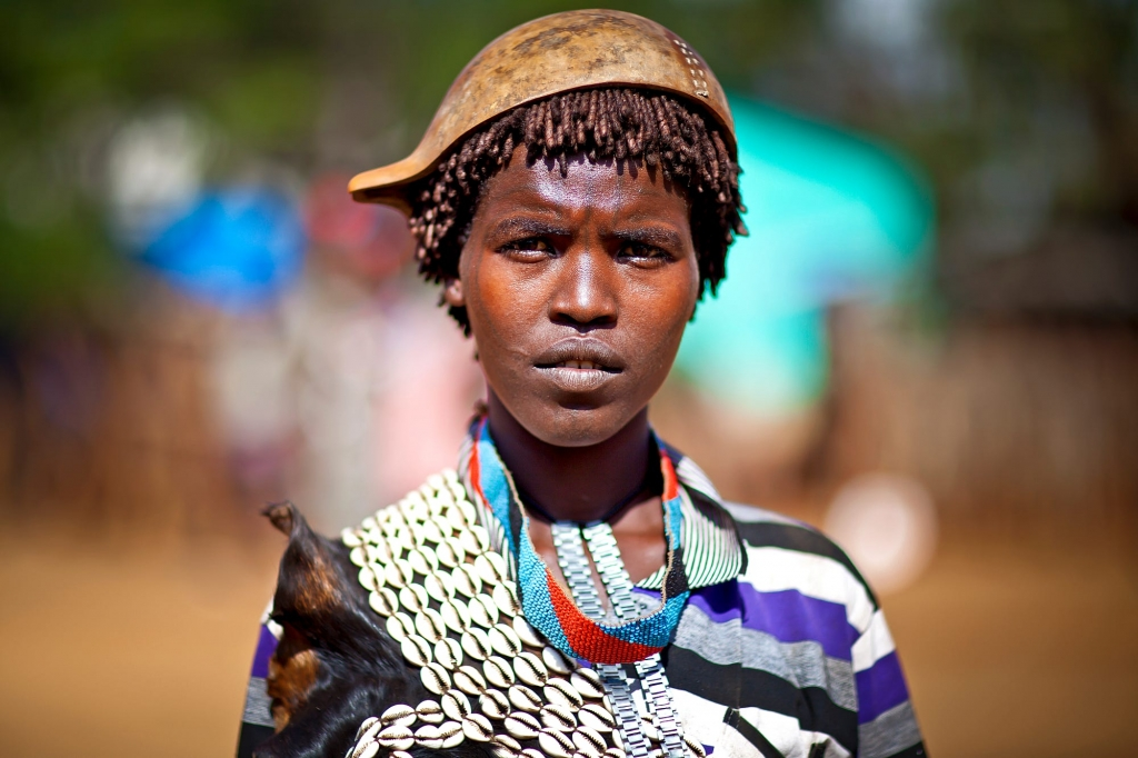 Bena tribe woman, Omo Valley, Ethiopia